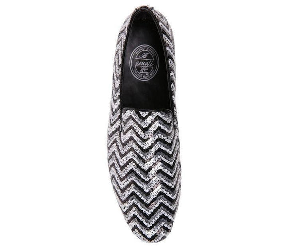 Chevy Sequin Chevron Patterned Smoking Slipper Slips