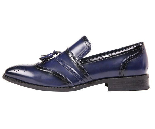 Charley Smooth Cap Toe Dress Shoe With Tassel And Perforation Detail Loafer