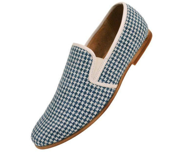 Trap Houndstooth Knit Slip On Dress Loafer Loafer Blue / 10