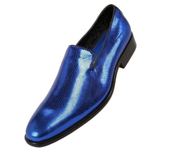 Durant Exotic Slip On Dress Shoe Loafers Royal Blue / 10