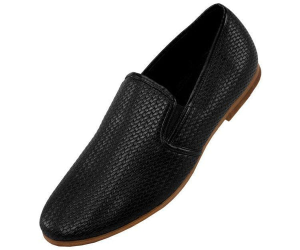 Harmon Business Casual Woven Emboss Loafer Loafers 10 / Black