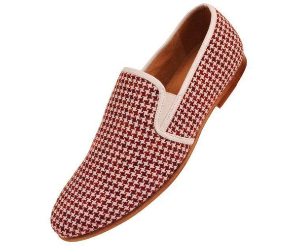 Trap Houndstooth Knit Slip On Dress Loafer Loafer Red / 10