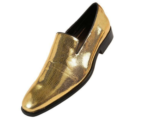 Durant Exotic Slip On Dress Shoe Loafers Gold / 10