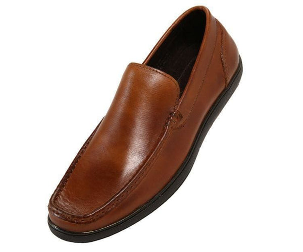 Finlay Genuine Leather Moc-Toe Slip-On Loafer Tan / 10