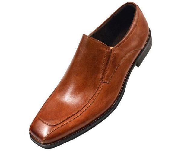 Fergus-028 Tan Leather Bike Track Slip-On Loafers