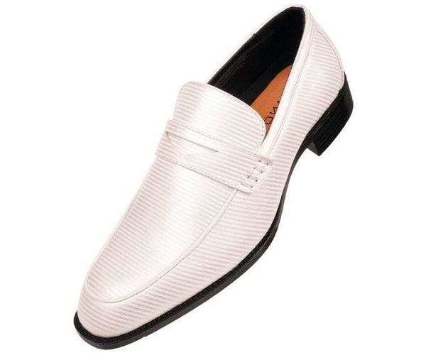 Henry Striped Penny Loafer Dress Shoe Loafs White / 10