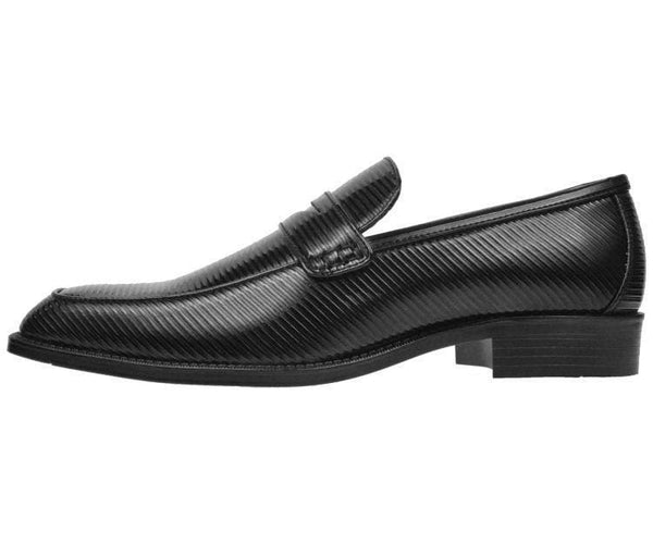 Henry Striped Penny Loafer Dress Shoe Loafs