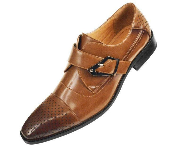 Jordan Smooth Single Monk-Strap Dress Shoe Monk Straps Cognac / 10