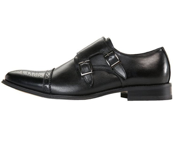 Stowe Genuine Leather Classic Double Monk Strap Dress Shoe Monk Straps