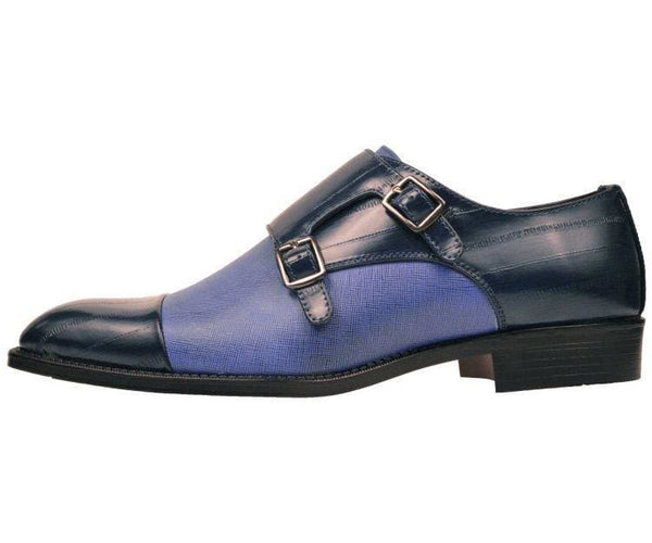 Marcus Eel Printed Double Monk-Strap Monk Straps
