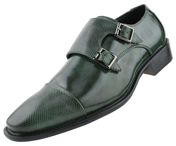bancroft Bolano Monk Straps Hunter Green / 10