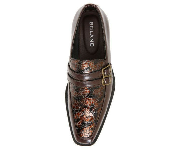 Martin Double Monk Strap W/ Exotic Vamp Monk Straps Pearl / 10