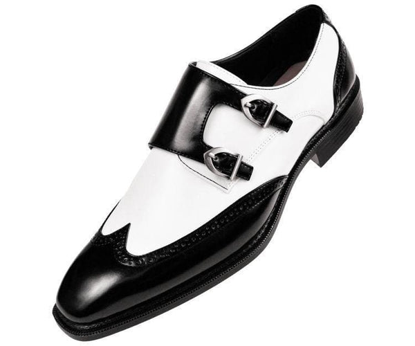 Toby Smooth Double Monk Strap Dress Shoe Monk Straps Black/white / 10