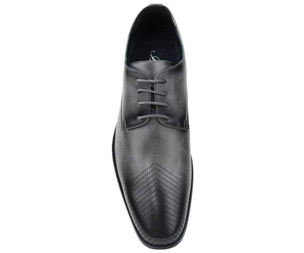 Amali Men's Smooth Embossed Faux Leather Cap Toe Oxford Dress Shoes