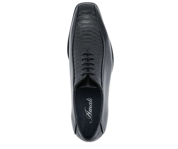 Winslow Patent Checkerboard Print Oxford Derby With Metal Tip Derby Black / 10