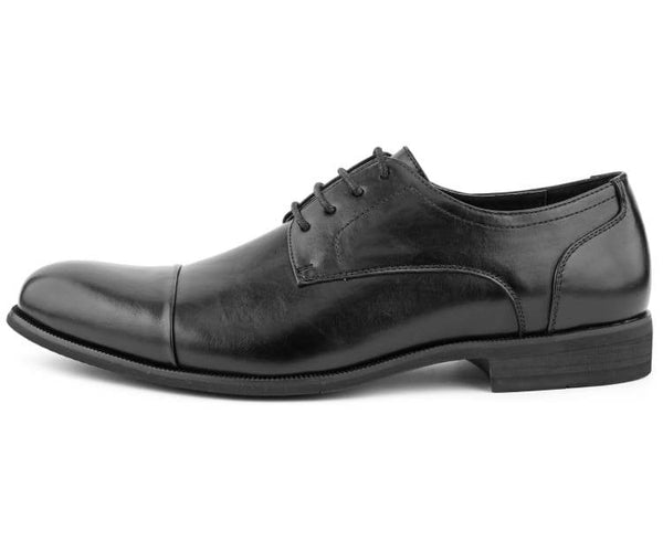 Amali Men's Smooth Faux Dress Casual Cap Toe Lace Up with Light Burnishing and Rubber Outsole Dress Shoe