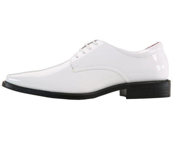 2851 Plain-Toe Tonal Stitched Tuxedo Derby Oxfords