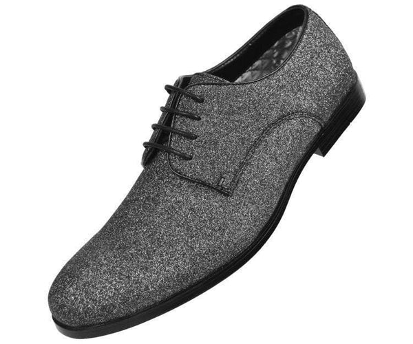 Shimmer Glitter Oxford Dress Shoe Derbs Black / 10
