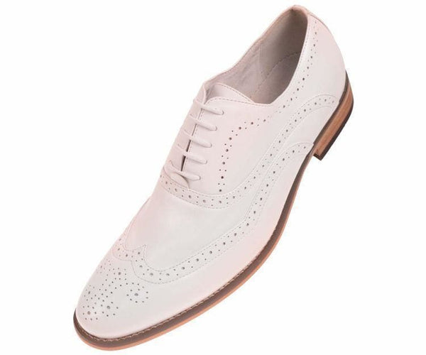 Beal Smooth Wingtip Oxford Oxfords White / 10