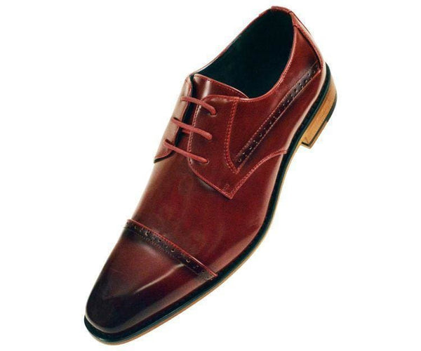 Timothy Perforated Cap-Toe Oxford Derby Oxfords Burgundy / 10
