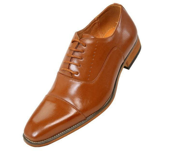 Clark Smooth Cap-Toe Tonal Stitched Oxford Lace Up Tan / 10