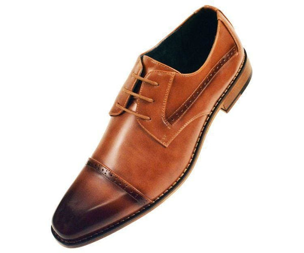 Timothy Perforated Cap-Toe Oxford Derby Oxfords Tan / 10