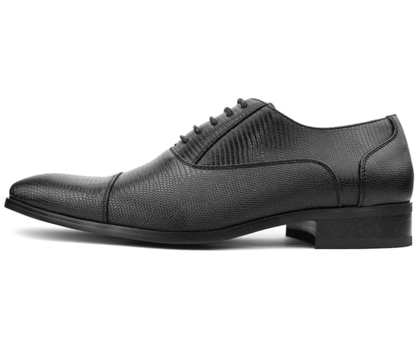 Amali Smooth Cap Toe Oxford with Laser Embossed Vamp Dress Shoe …