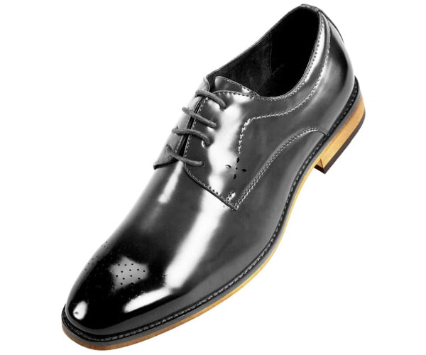 Petfer Smooth Burnished Derby With Perforated Toe Derby
