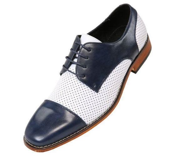 Yoshida Smooth Cap-Toe Oxford Derby Lace Up Navy Blue / 10
