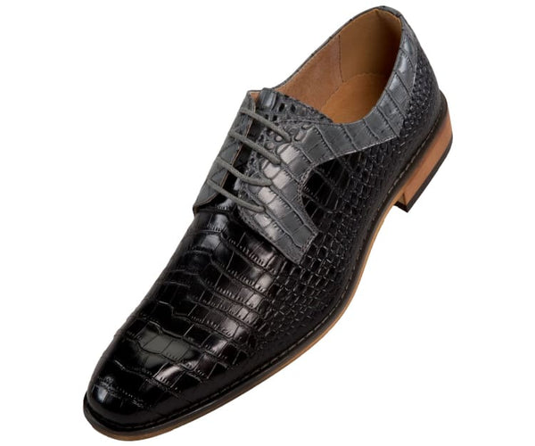 Amali Two Tone Exotic Crocodile Oxford Men's Dress Shoes