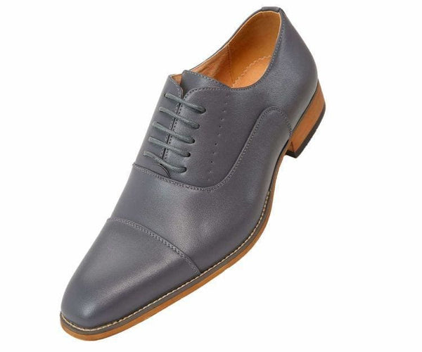 Clark Smooth Cap-Toe Tonal Stitched Oxford Lace Up Grey / 10