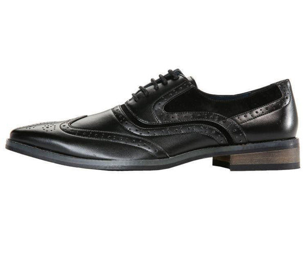 Mitch-Sale Tonal Smooth And Microfiber Wingtip - Sale Lace Up