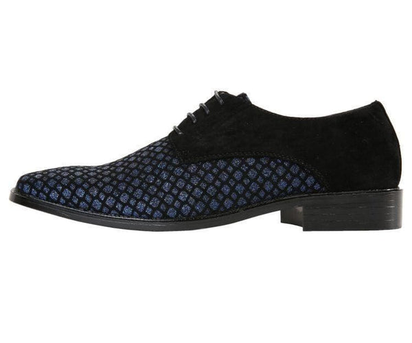 Crawford Lattice Pattern Glitter Oxford Dress Shoes Derbs
