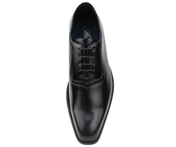 Amali Smooth Burnished Derby with Perforated Toe Men's Dress Shoe