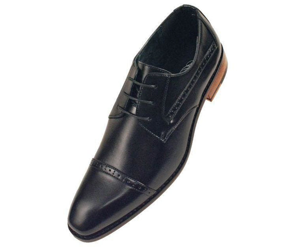 Timothy Perforated Cap-Toe Oxford Derby Oxfords Black / 10