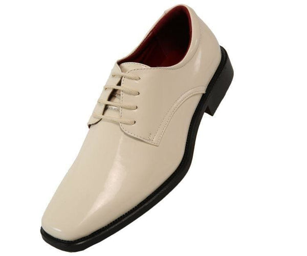 2851 Plain-Toe Tonal Stitched Tuxedo Derby Oxfords Ice / 10