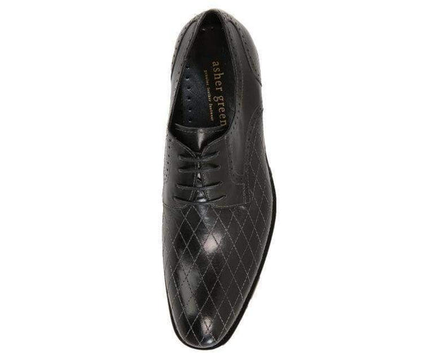 Ag369-Sale Quilted Leather Oxford Derby Lace Up