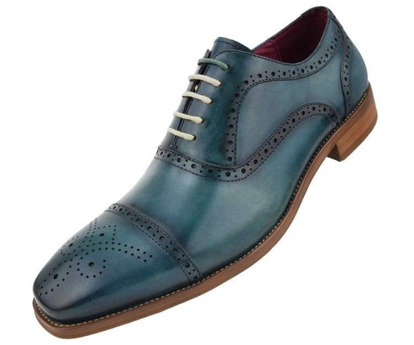 ag114 Asher Green Oxfords Teal / 7.5