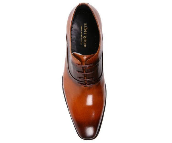 Ag609 Genuine Leather Cap Toe Lace Up Oxford Dress Shoe Oxfords