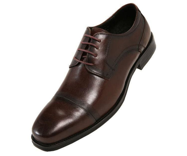 Jessie Brushed Calf Leather Oxford Derby Lace Up Brown / 10