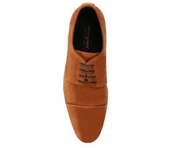 Ag3889 Genuine Suede Cap Toe Lace Up Oxford Derby Dress Shoe Lace Up