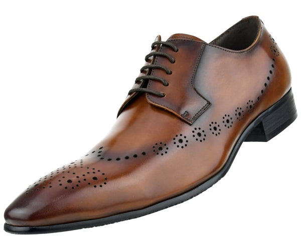 Asher Green Mens Genuine Waxy Calf Leather Lace up Cap Toe Oxford Dress Shoe ‰Û_