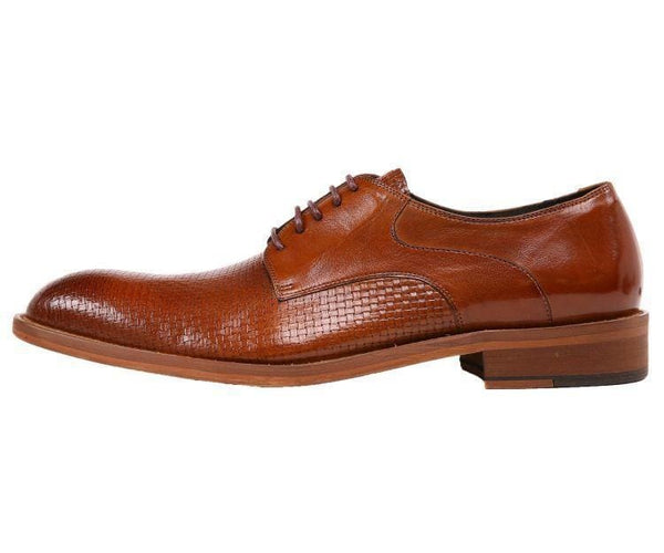 Ag210 Genuine Woven Buffalo Leather Oxford Derby