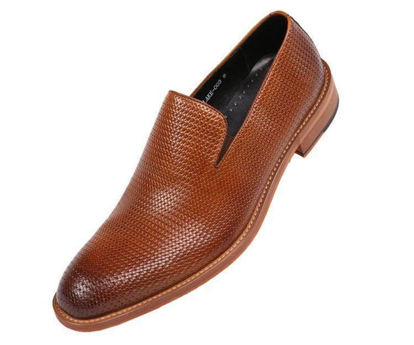 Asher-Green-Style-Ag200 Cognac Genuine Woven Embossed Leather Loafer Oxfords