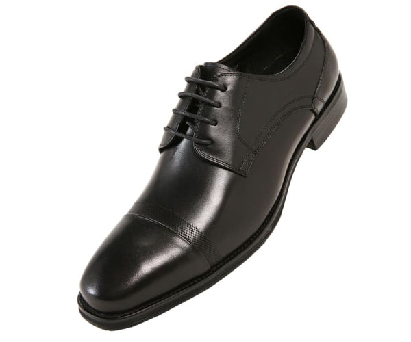 Jessie Brushed Calf Leather Oxford Derby Lace Up Black / 10