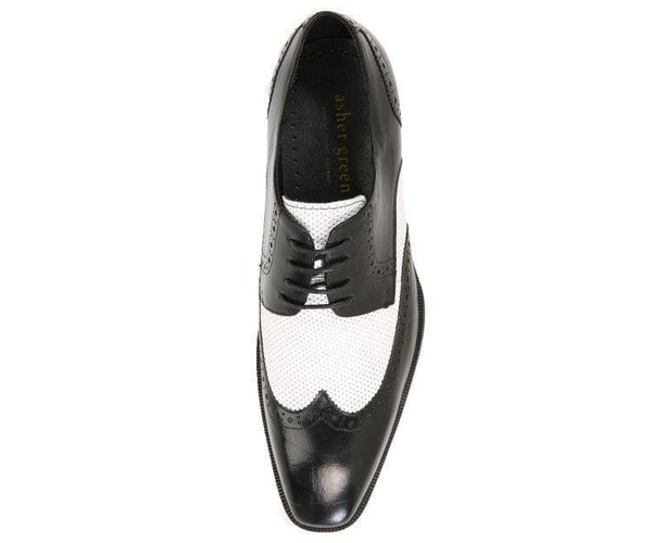 Ag3027 Two-Tone Waxed Leather Wingtip Derby