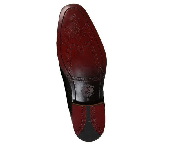 Ag1034 Suede Wingtip With Stripe Embossed Leather Derbs