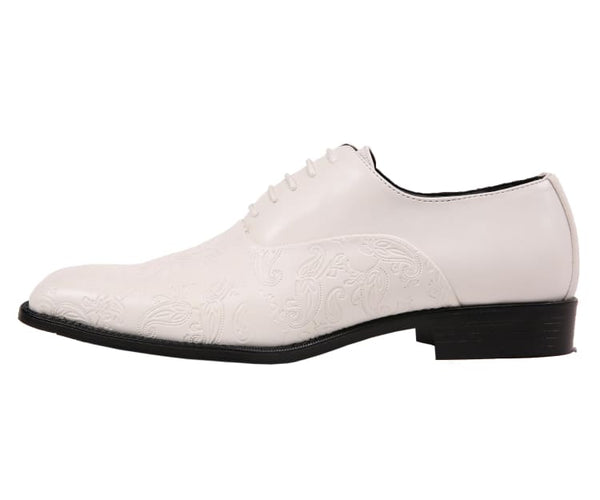 Peter Paisley Embossed Plain Toe Oxford Dress Oxfords