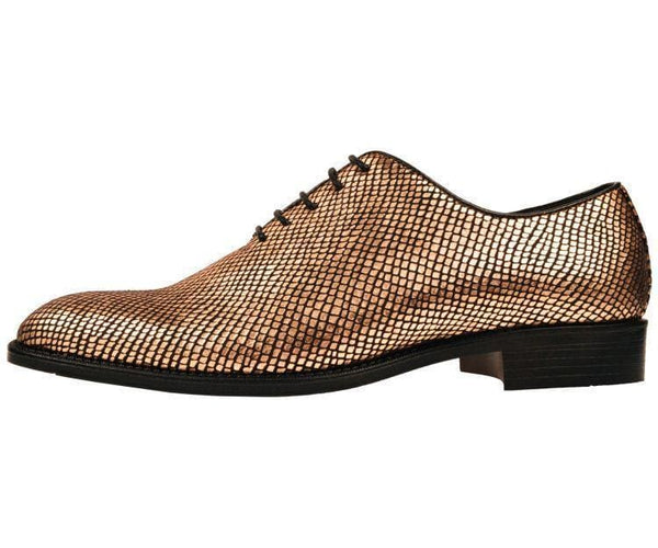 Brent Shiny Snake Printed Oxford Oxfords