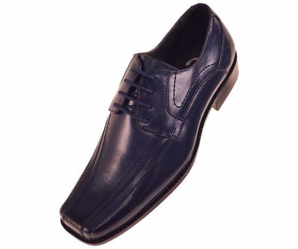 7815 Classic Smooth Oxford Lace Up Dress Shoe Lace Up Navy Blue / 10